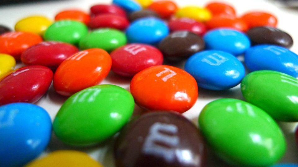 kids loving candy