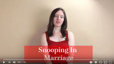 Snooping in Marriage
